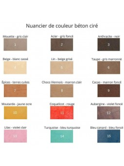 Nuancier couleur béton ciré pour sols