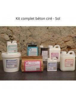 Les produits inclus dans le kit de béton ciré sol