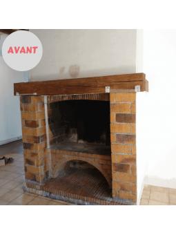 Rénovation d'une cheminée avec du Béton Ciré DIY avant